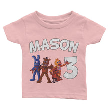 Load image into Gallery viewer, Personalized Five Nights Of Freddy Birthday Shirt