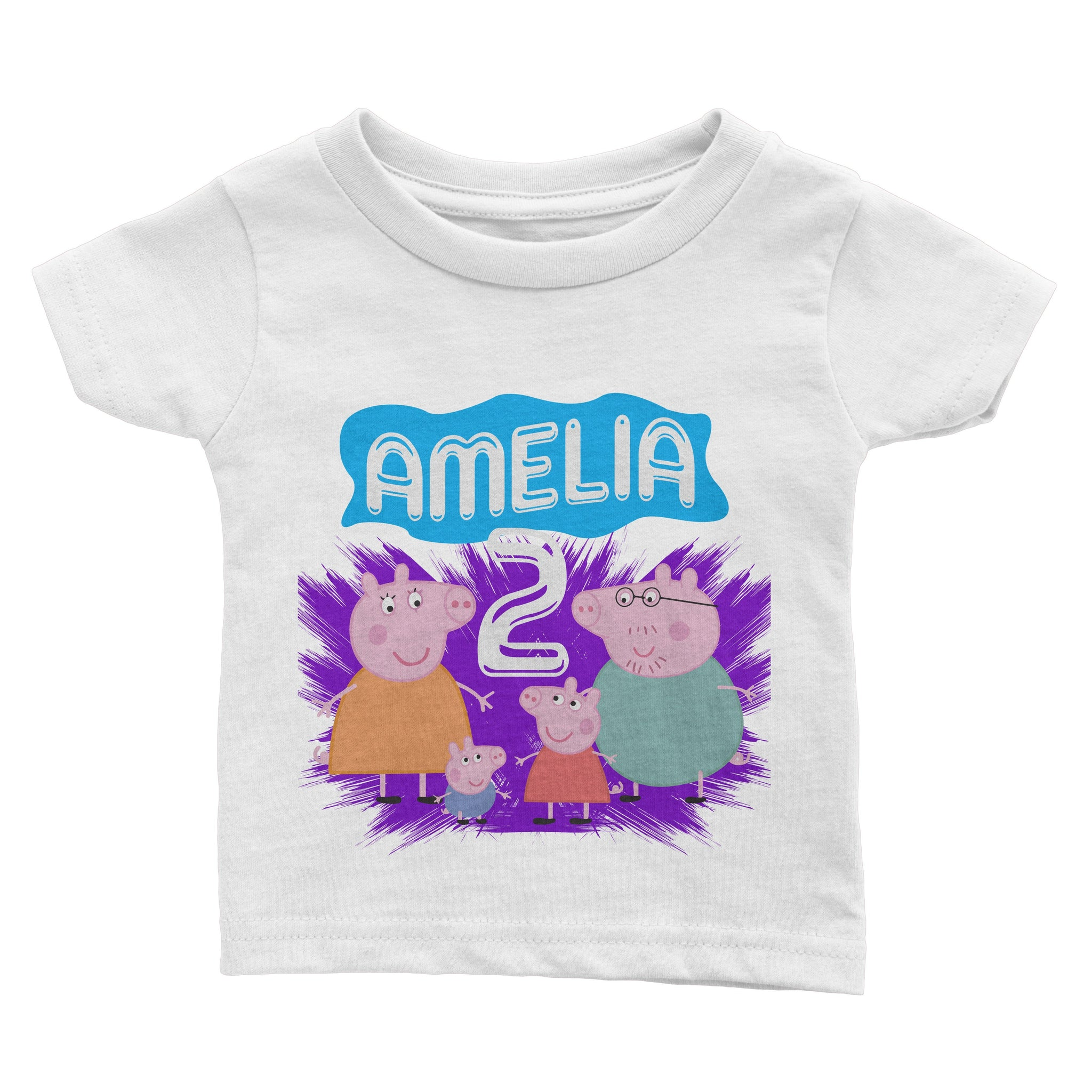 Load Image Into Gallery Viewer Personalized Peppa Pig Birthday Shirt