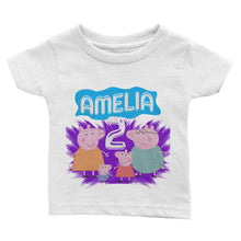 Load image into Gallery viewer, Personalized Peppa Pig Birthday Shirt