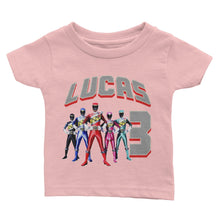 Load image into Gallery viewer, Personalized Power Rangers Birthday Shirt