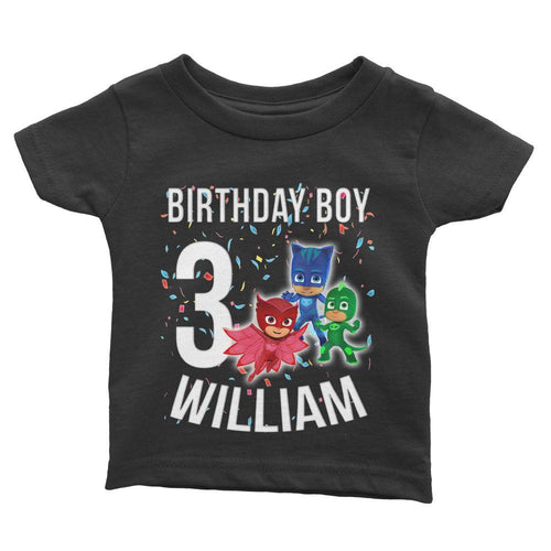 PJ Mask Birthday Shirt for Kids [Cuztom] - Cuztom Threadz