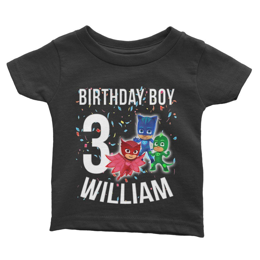Load Image Into Gallery Viewer PJ Mask Birthday Shirt For Kids Cuztom