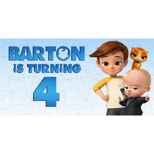 Load image into Gallery viewer, Custom Birthday Boss Baby Banner Weatherproofing