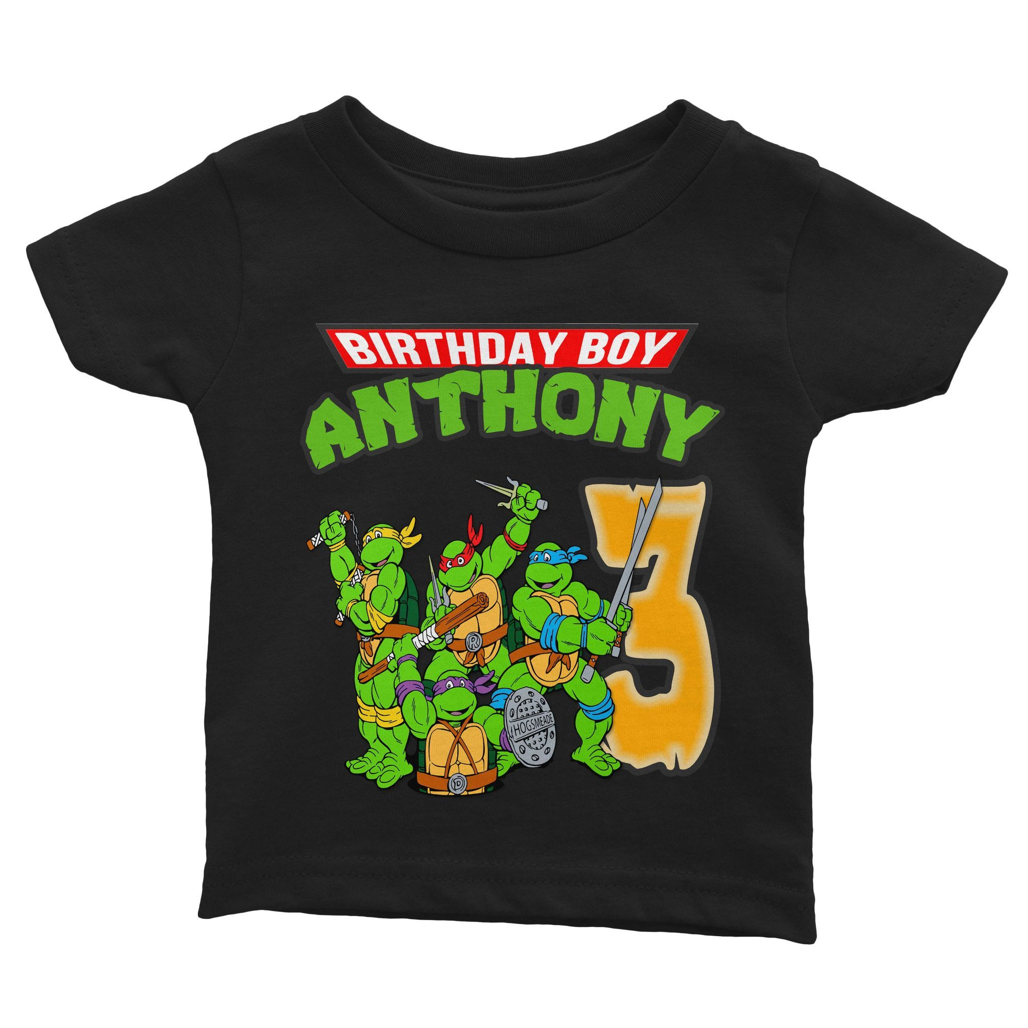Load Image Into Gallery Viewer TMNT Birthday Shirt For Kids Cuztom