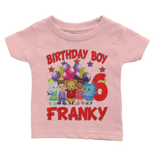 Load image into Gallery viewer, Personalize Daniel The Tiger Birthday T-Shirt