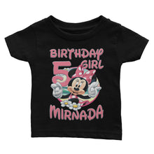 Load image into Gallery viewer, Personalize Disney Minnie Birthday Shirt