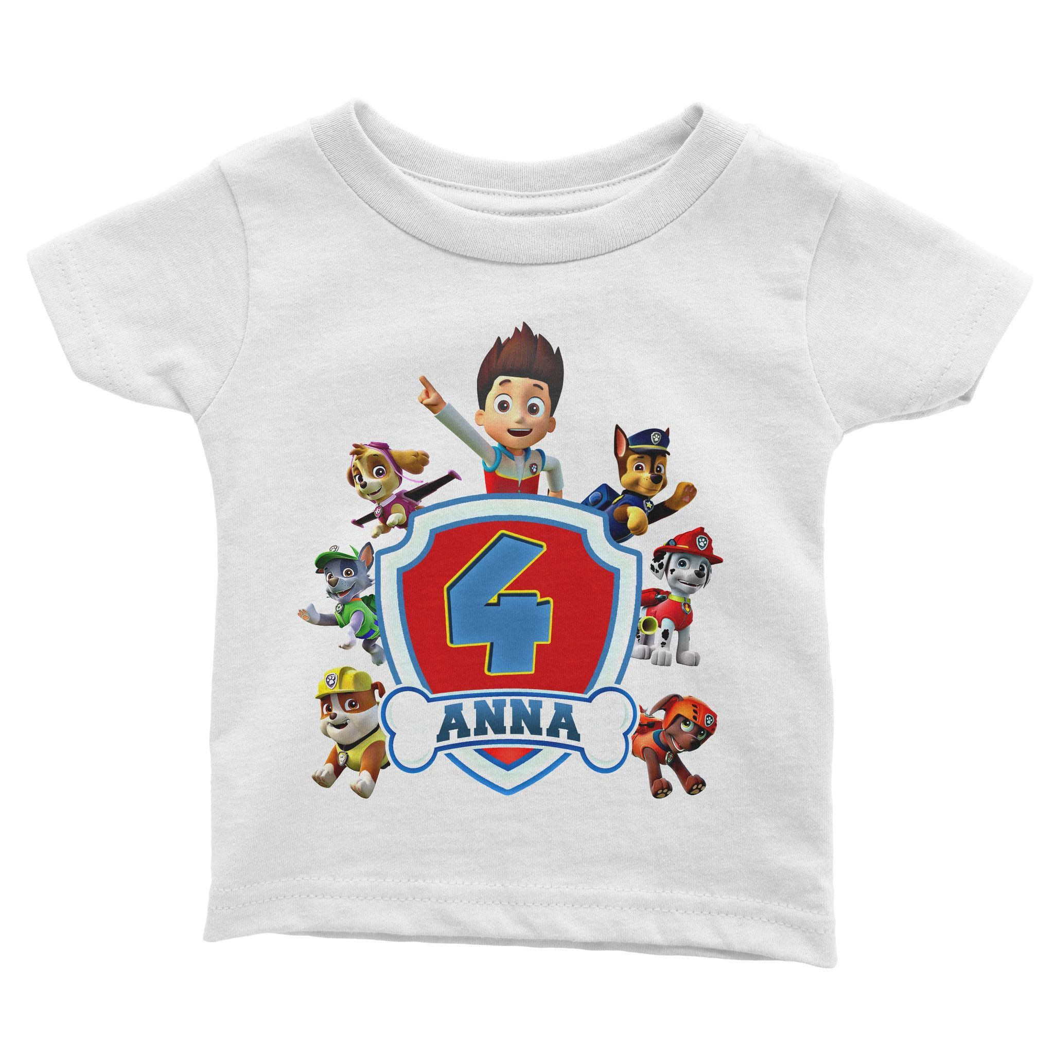 Load Image Into Gallery Viewer Paw Patrol Birthday Shirt For Kids Cuztom