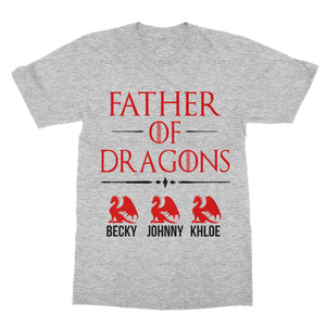 Personalized Father of Dragons Game of Thrones T-Shirt