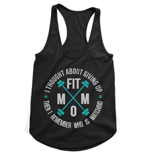 Load image into Gallery viewer, Fit Mom Never Give Up Workout Tank (Woman)