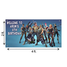Load image into Gallery viewer, Personalized Fortnite Birthday Banner Weatherproofing