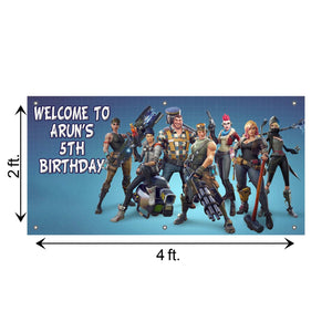 Personalized Fortnite Birthday Banner Weatherproofing
