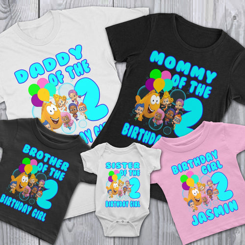 Personalize Friends Bubble Guppies Birthday Shirt