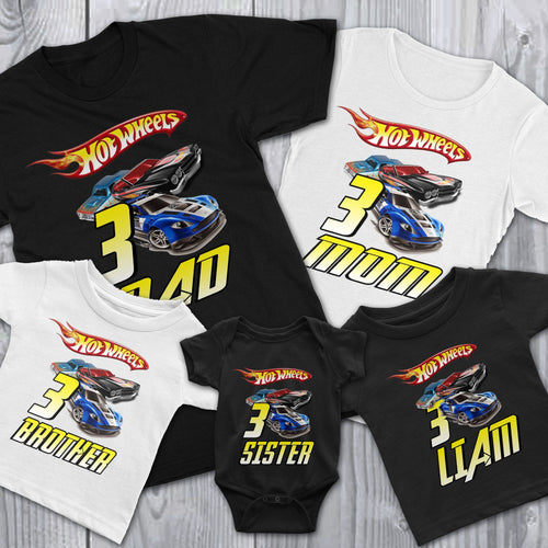 Personalized Hot Wheels Birthday Shirt