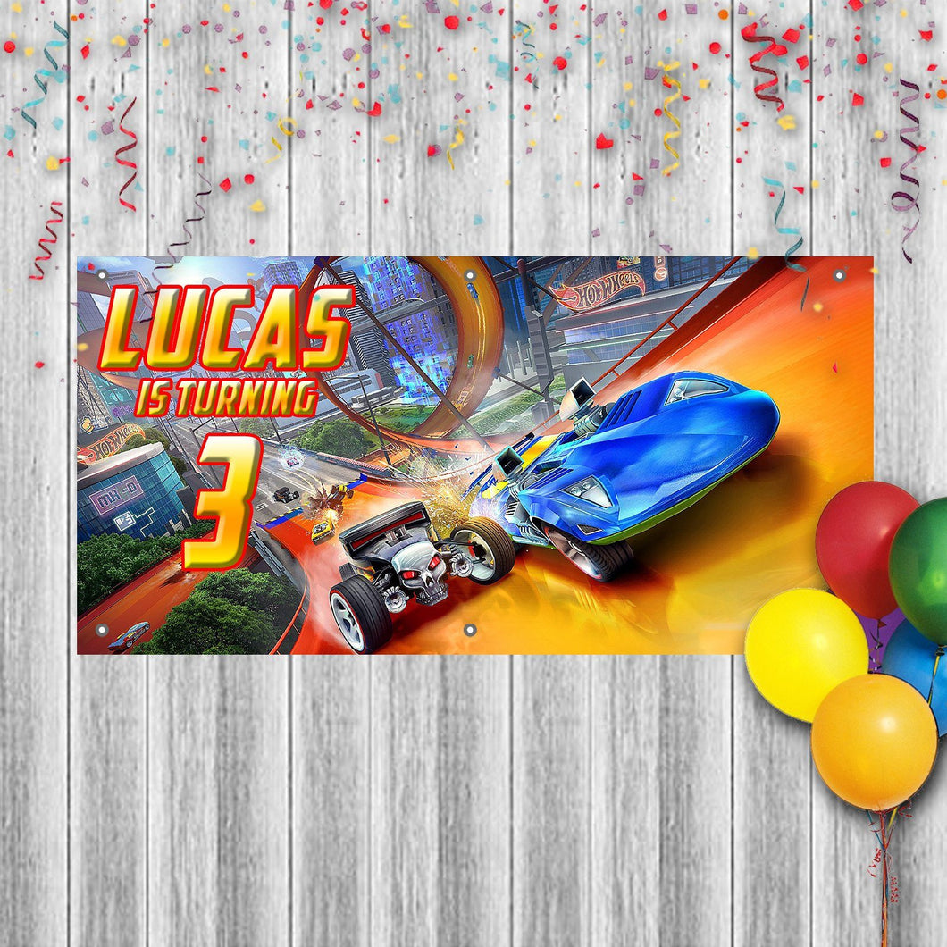 Personalized Hot Wheels Birthday Banner Weatherproofing