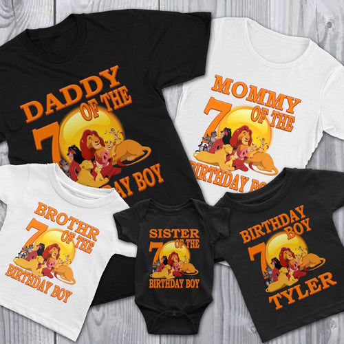 Personalize Lion King Birthday Shirt