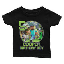 Load image into Gallery viewer, Personalize Minecraft Birthday Shirt