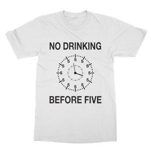No Drinking Before 5 Funny Shirt (Men)