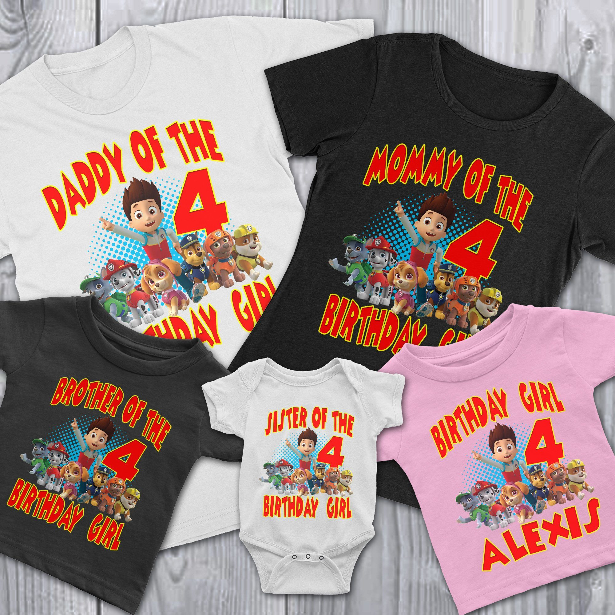 Load Image Into Gallery Viewer Personalize Paw Patrol Birthday Shirt
