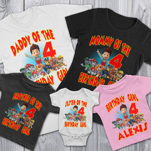 Personalize Paw Patrol Birthday Shirt