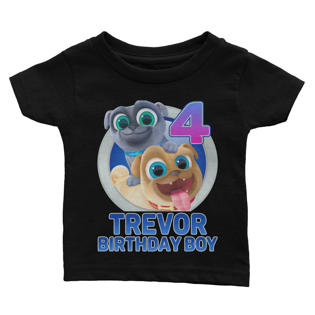 Personalize Puppy Dog Pals Birthday Shirt
