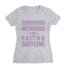 Load image into Gallery viewer, Faith and Caffeine Mom T-Shirt