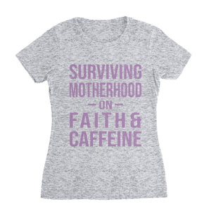 Faith and Caffeine Mom T-Shirt