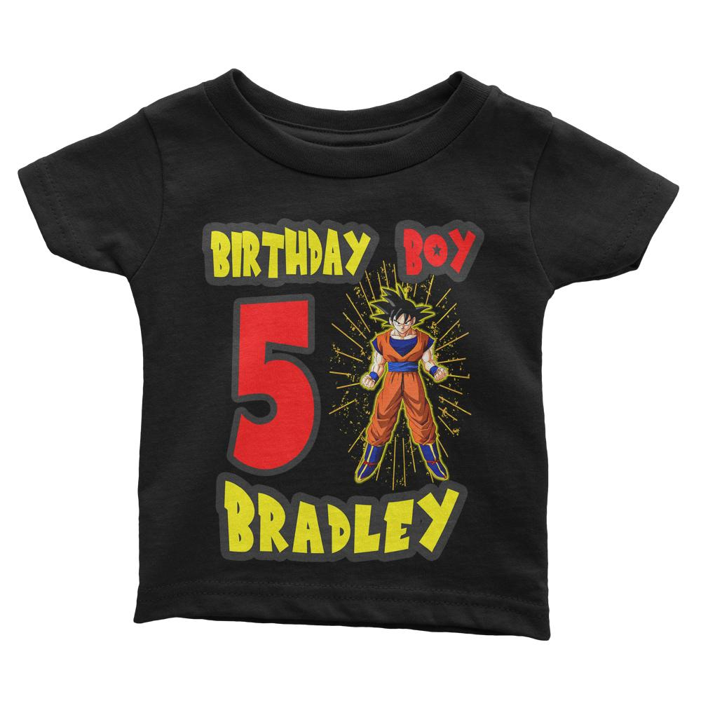 Personalize Dragon Ball Z Birthday Shirt