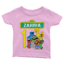 Load image into Gallery viewer, Personalized Sesame Street Birthday Shirt