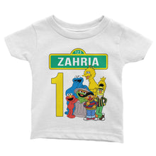 Load image into Gallery viewer, Personalize Sesame Street Birthday Shirt