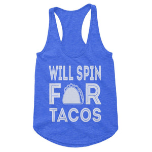 Will Spin For Tacos Workout Tank (Woman)