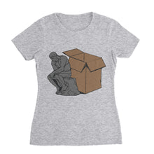 Load image into Gallery viewer, Think Outside The Box Funny Shirt (Woman)