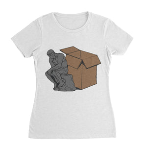 Think Outside The Box Funny Shirt (Woman)