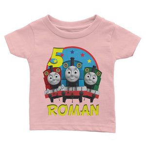 Personalize Thomas The Train Birthday Shirt