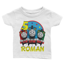 Load image into Gallery viewer, Personalize Thomas The Train Birthday Shirt