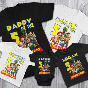Personalize Toy Story Birthday Shirt
