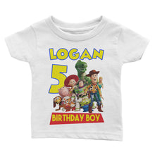 Load image into Gallery viewer, Personalize Toy Story Birthday Shirt