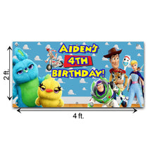 Load image into Gallery viewer, Personalized Toy Story Birthday Banner Weatherproofing