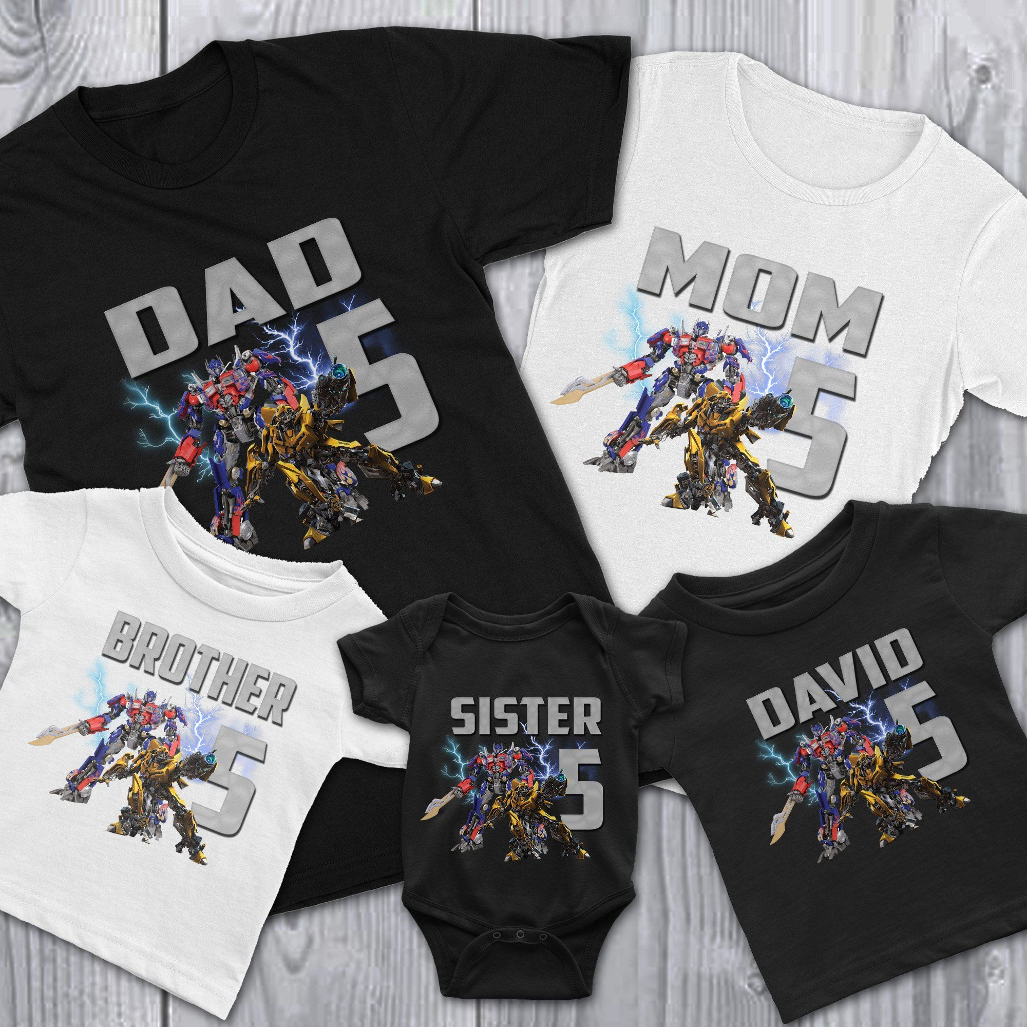 aa2457880 Load image into Gallery viewer, Personalize Transformers Birthday Shirt ...