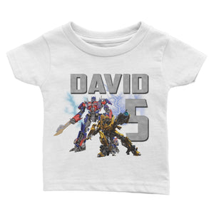 Personalize Transformers Birthday Shirt