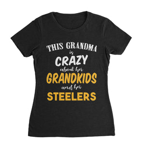 Grandma Crazy for Pittsburgh Steelers T-Shirt (Women)