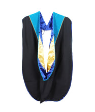 Load image into Gallery viewer, MyGradDay Deluxe Unisex Graduation Doctoral Hood with Gold Piping