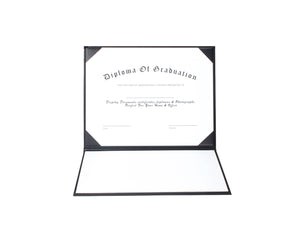 "Smooth Tent Graduation Diploma Cover Certificate Holder 8 1/2"" x 11"""