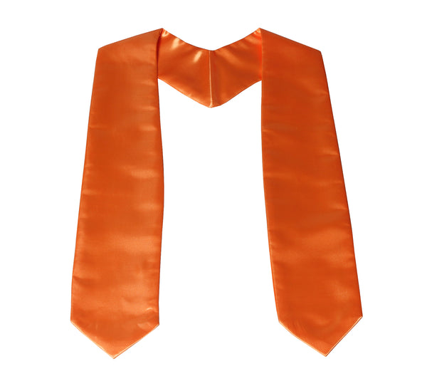 Unisex Graduation Plain Stole For Children Length 50''