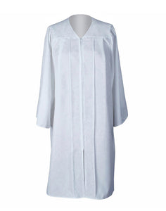 Unisex Adult White Matte Graduation Gown Only Choir Robes,12 Colors Option