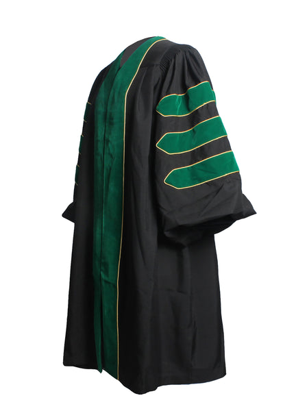 MyGradDay Deluxe Unisex Kelly Green Graduation Doctoral Gown Only with Gold Piping