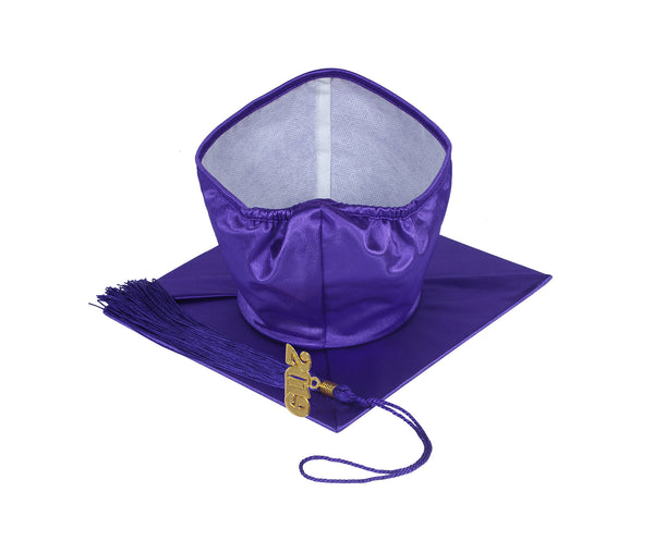 Unisex Adult Purple Graduation Shiny Gown Cap Tassel 2019 Year Charm Package