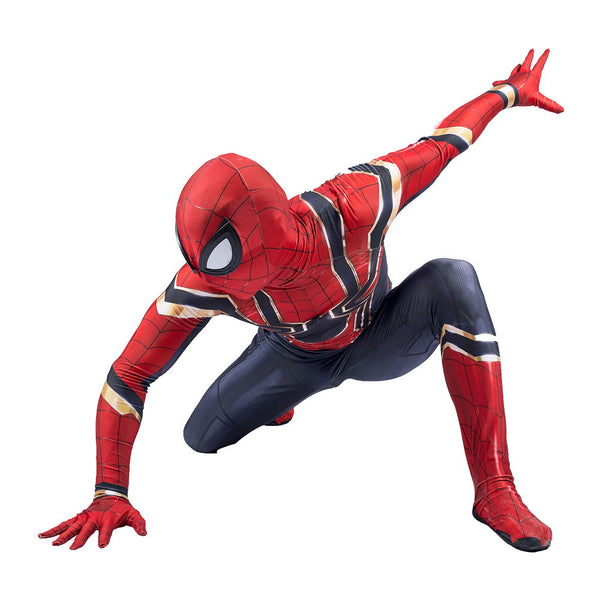100% Spandex Iron Spiderman Costume Cosplay Suit for Youth and Adults