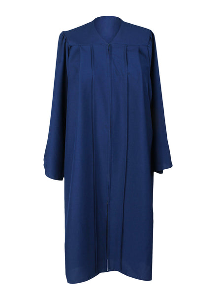 Matte Navy Blue High School Graduation Cap & Gown with 2019 Tassel for Adult