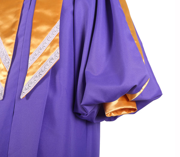 Deluxe High Quality Premium Crescendo Choir Robe with Cuff Sleeves
