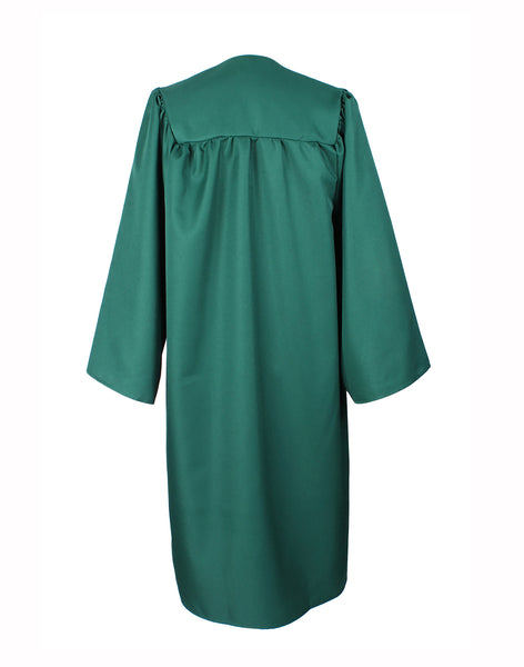 Matte Hunter Green High School Graduation Cap & Gown with 2019 Tassel for Adult